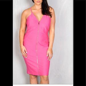 Dresses & Skirts - Fuchsia Pink Zipper Front Plus Size Dress